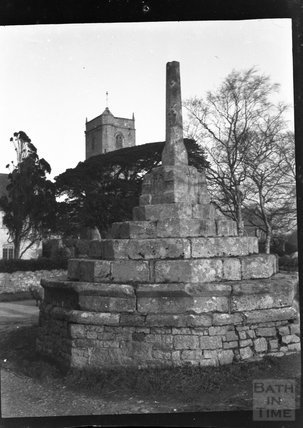 Village cross, Wick St Lawrence, c.1900s