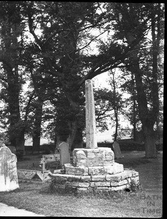 Churchyard cross, Biddisham, c.1900s