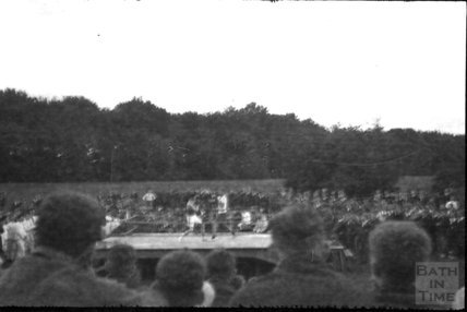 Boxing match, unidentified location, c.1920s