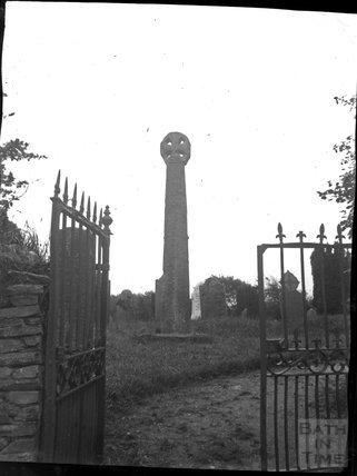 Churchyard cross at Church of St Tetha, St Teath, North Cornwall, c.1900s