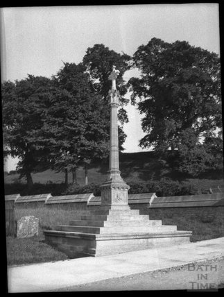 Cross at Edington Priory church, Wiltshire, c.1900s