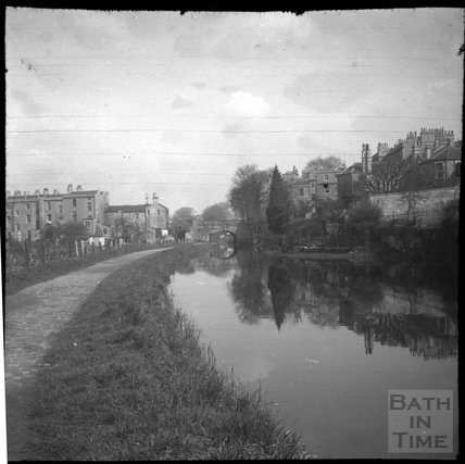Kennet and Avon Canal below Sydney Buildings, Bath c.1950