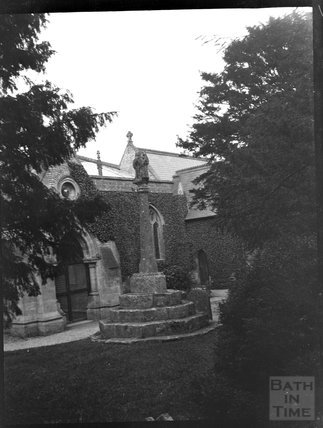 Churchyard cross, Chewton Mendip, c.1900s