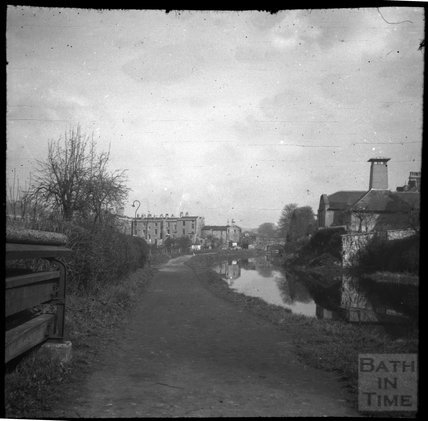 Kennet and Avon Canal below Sydney Buildings, Bath c.1900s