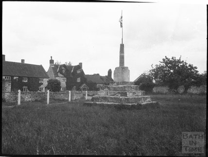 Queen Charlton village cross (near Keynsham), c.1900s