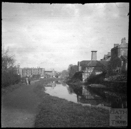 Kennet and Avon Canal below Sydney Buildings, Bath c.1900