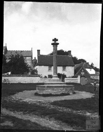Aldbourne village cross, Wiltshire, c.1900s