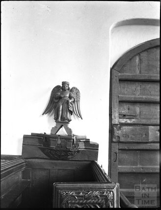 Carved angel, unidentified church, c.1900s