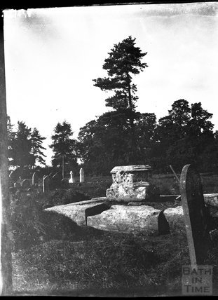 Plinth of churchyard cross in unidentified location, c.1900s