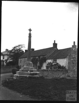 Village cross, Bleadon, c.1900s