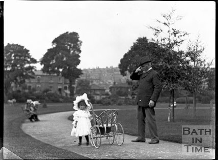 Little girl in Henrietta Park, early 1900s