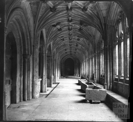 Cloisters of Lacock Abbey c.1900s