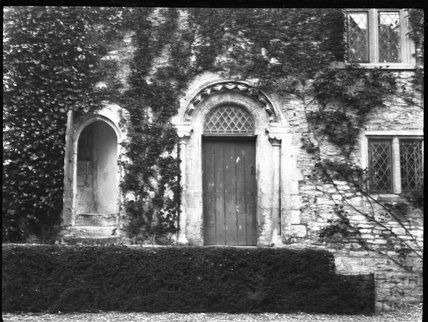 Unusual Norman doorway in unknown location c.1900s