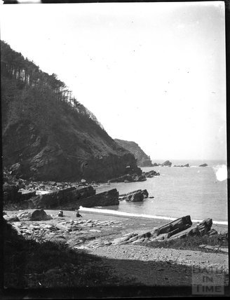 Coastline at the Valley of the Rocks, North Devon c.1900s