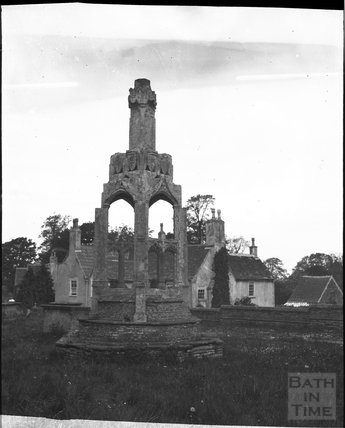 Cross in churchyard of St James the Less, Iron Acton, circa 1900s