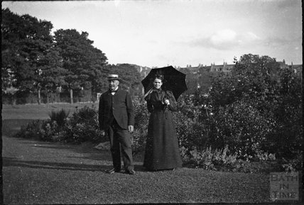 Couple in Victoria Park, c.1900s