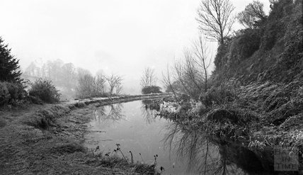 Somersetshire Coal Canal near Monkton Combe on a frosty morning c1900s
