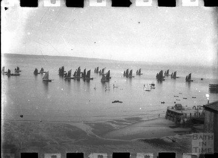 Sailing boats at Tenby c.1900s