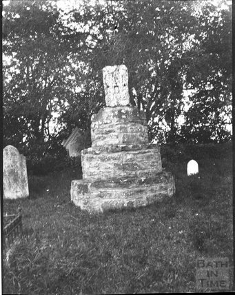 Remains of churchyard cross in unknown location c.1900s