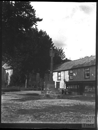Village cross in Lambourn, Hungerford, Berkshire, c.1900s