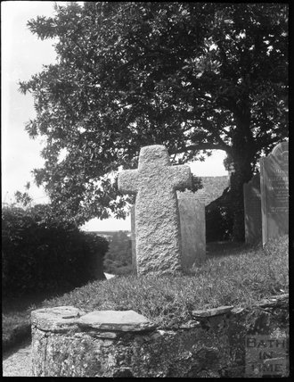 Tombstone in cross form, unknown location c.1900s