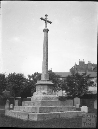 Churchyard cross in unknown location c.1900s