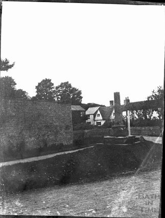 Shaft of village cross in unknown location c.1900s