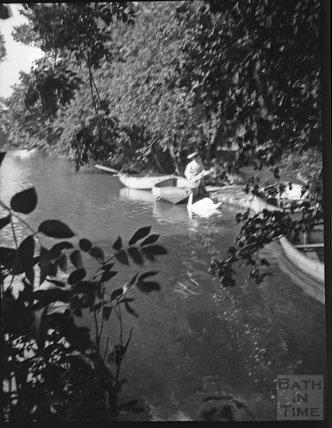 Riverside scene in unknown location c.1900s