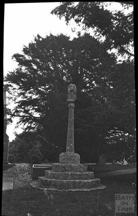 Churchyard cross, St Mary Magdalene, Chewton Mendip, c.1900s