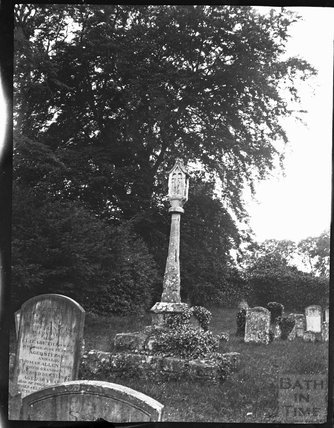 Churchyard cross, Holy Rood Church, Ampney Crucis, Gloucestershire, circa 1900s