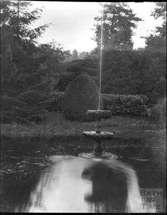 Garden fountain in unidentified location, c.1900s
