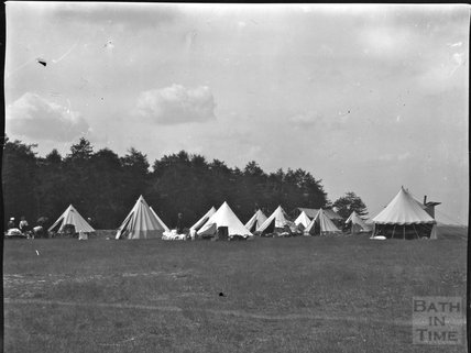 Scene at a military camp, c.1900s