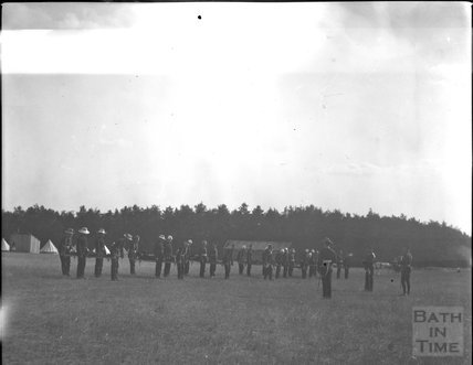 Parade at an unidentified military camp, c.1900s