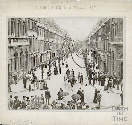 Diamond Jubilee Week, looking down Milsom Street, 1897