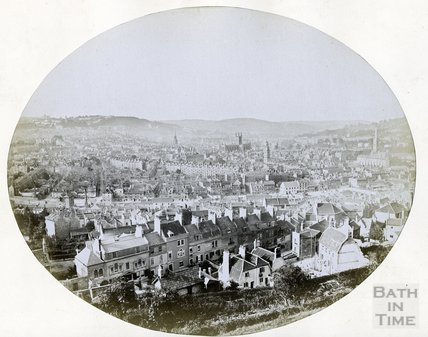 View from Beechen Cliff, c. 1872
