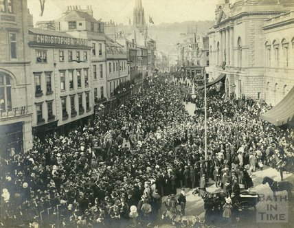 North Somerset Yeomanry Lord Mayors Arrival at the Guildhall, c.1897