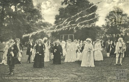 Bath Historical Pageant Episode 7: Glorious Times of Beau Nash, AD 1752, July 1909