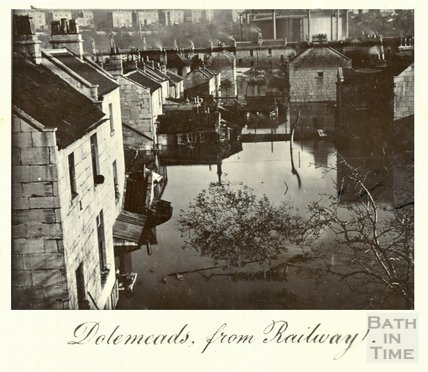 The Great Floods in Bath, Dolemeads from the railway, November 13th-15th 1894