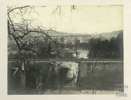 Grosvenor from Canal Bank. The Great Flood, 1894