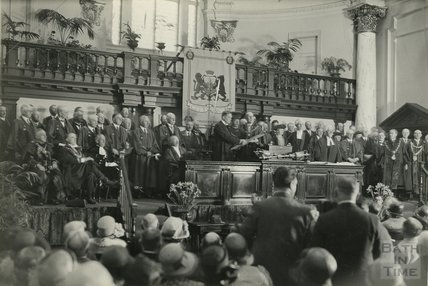 Lord Bath receiving the Freedom of the City of Bath, c. 1930