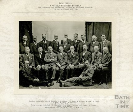 Friendly Societies Council. Organisers of the Propaganda Scheme to Assist the Funds of the Royal United Hospital 1923-24