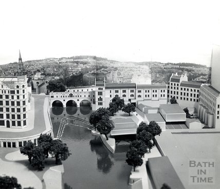 Model of New Pulteney Weir Scheme, c.1970