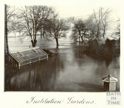 The Great Floods in Bath, Institution Gardens, November 13th-15th 1894