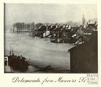 The Great Floods in Bath, Dolemeads from Manvers Street, November 13th-15th 1894