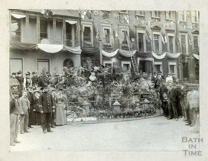 1887 Golden Jubilee Celebrations, top of Milsom Street