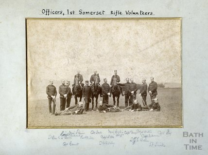 Officers 1st Somerset Rifle Volunteers, c.1890s