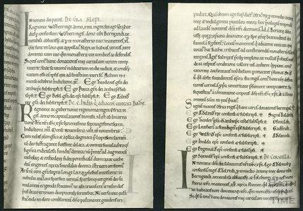 King Osric's Charter (Latin), written in 676.