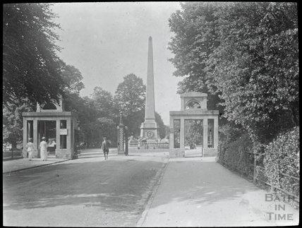 Entrance gates to Royal Victoria Park, c.1905
