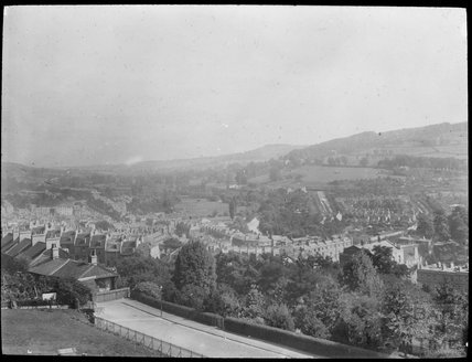 View of Bath with Upper Hedgemead Road in the foreground, c.1905