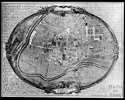 c.1905 copy of John Wood's map of Bath 1735
